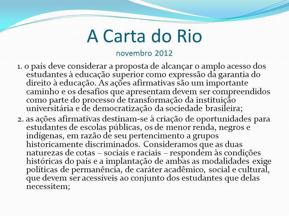 A Carta do Rio novembro 2012