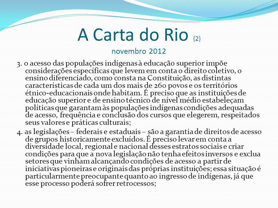 A Carta do Rio (2) novembro 2012