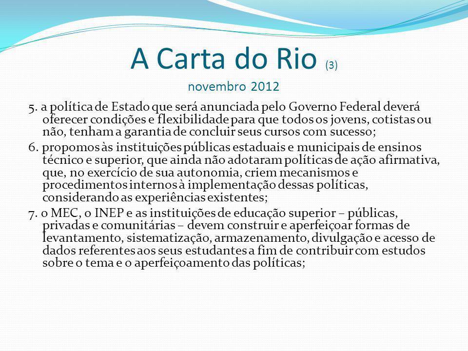 A Carta do Rio (3) novembro 2012