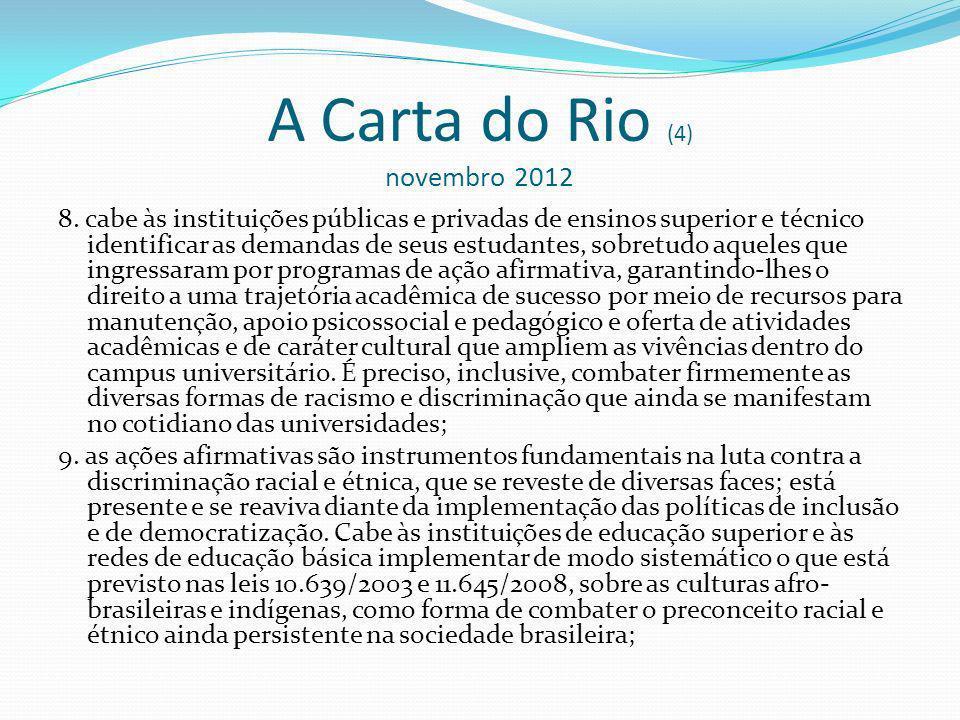 A Carta do Rio (4) novembro 2012