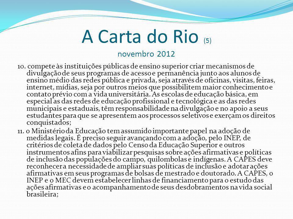 A Carta do Rio (5) novembro 2012