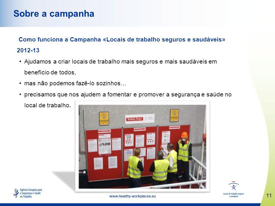 Sobre a campanha Como funciona a Campanha «Locais de trabalho seguros e saudáveis» 2012-13.