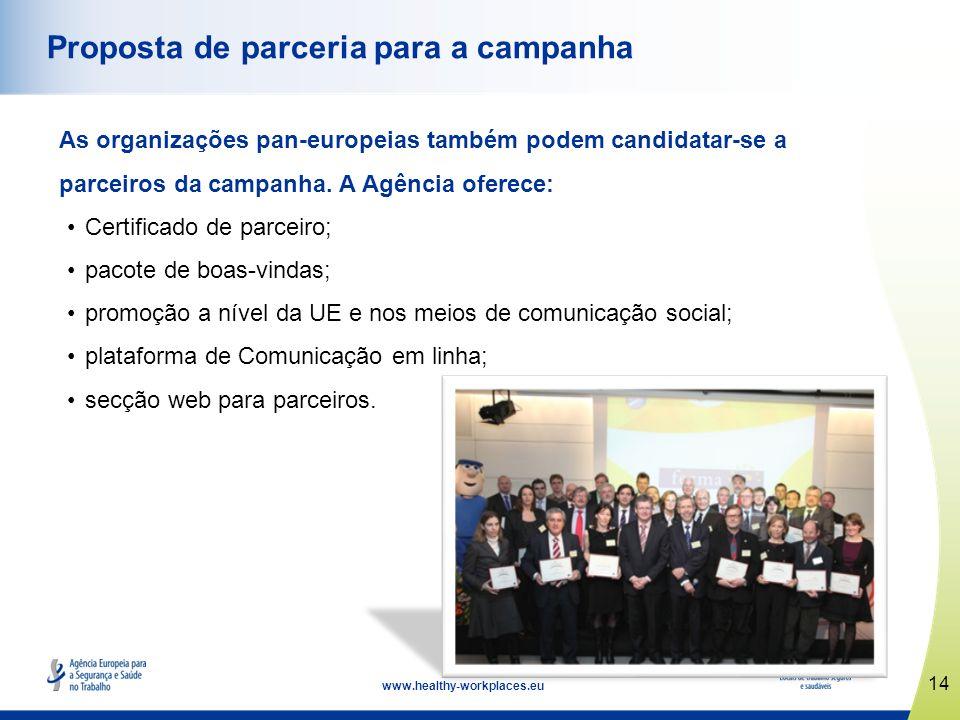 Proposta de parceria para a campanha