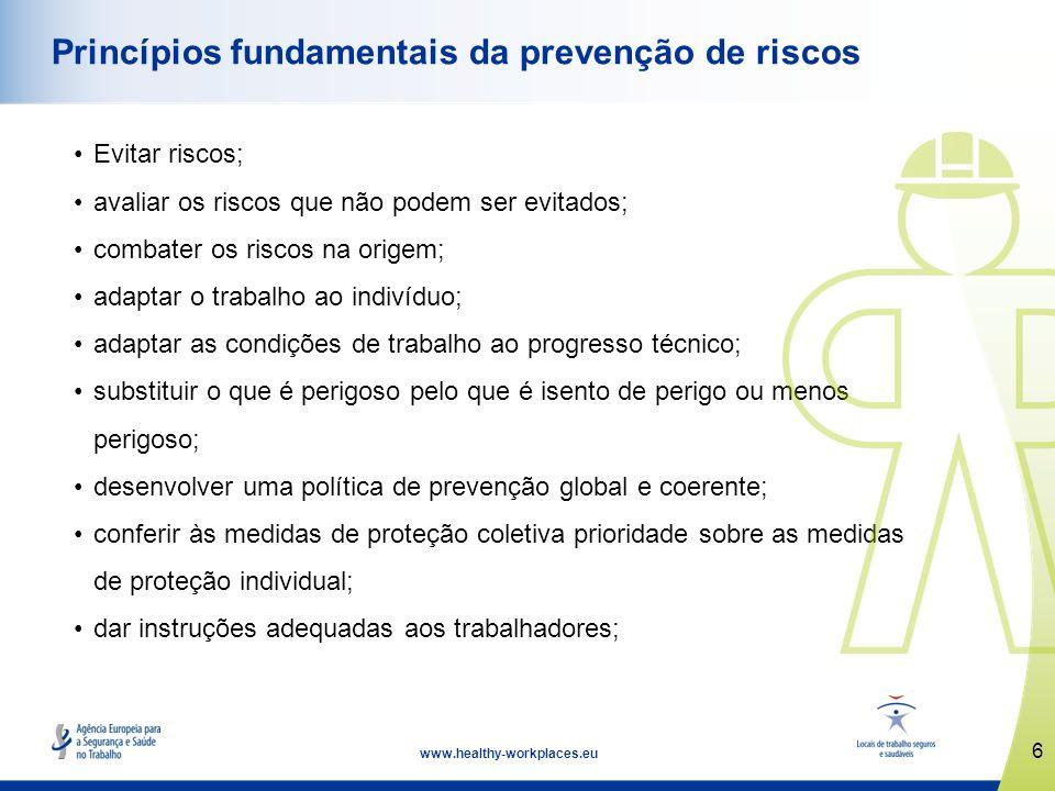 Princípios fundamentais da prevenção de riscos
