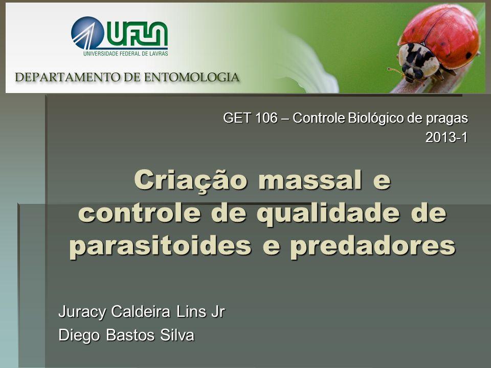 Criação massal e controle de qualidade de parasitoides e predadores