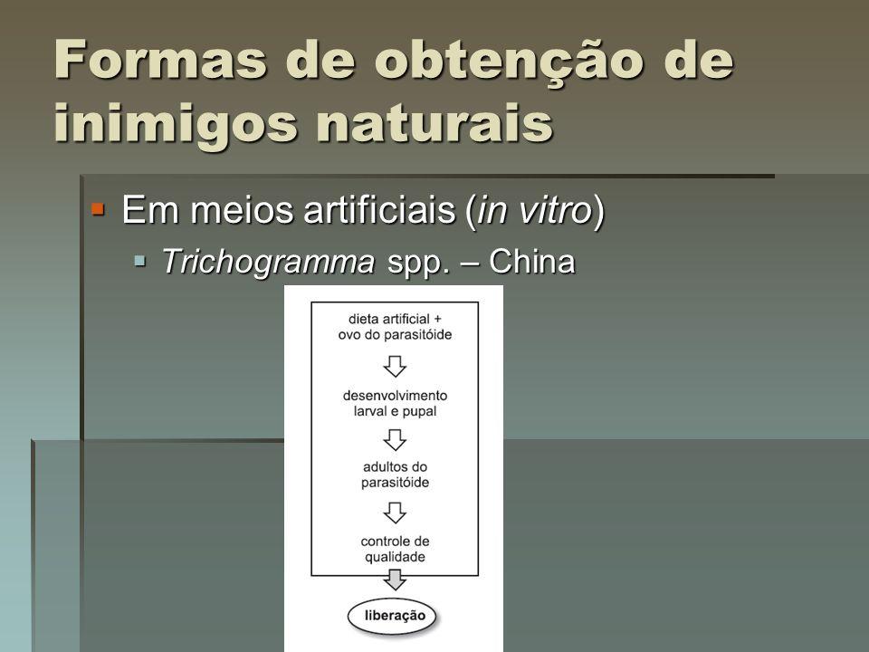 Formas de obtenção de inimigos naturais