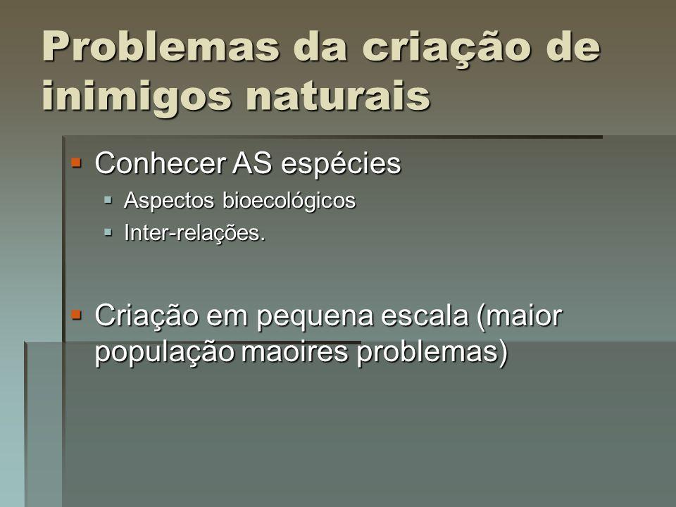 Problemas da criação de inimigos naturais