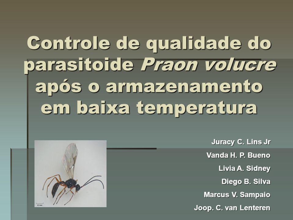 Controle de qualidade do parasitoide Praon volucre após o armazenamento em baixa temperatura
