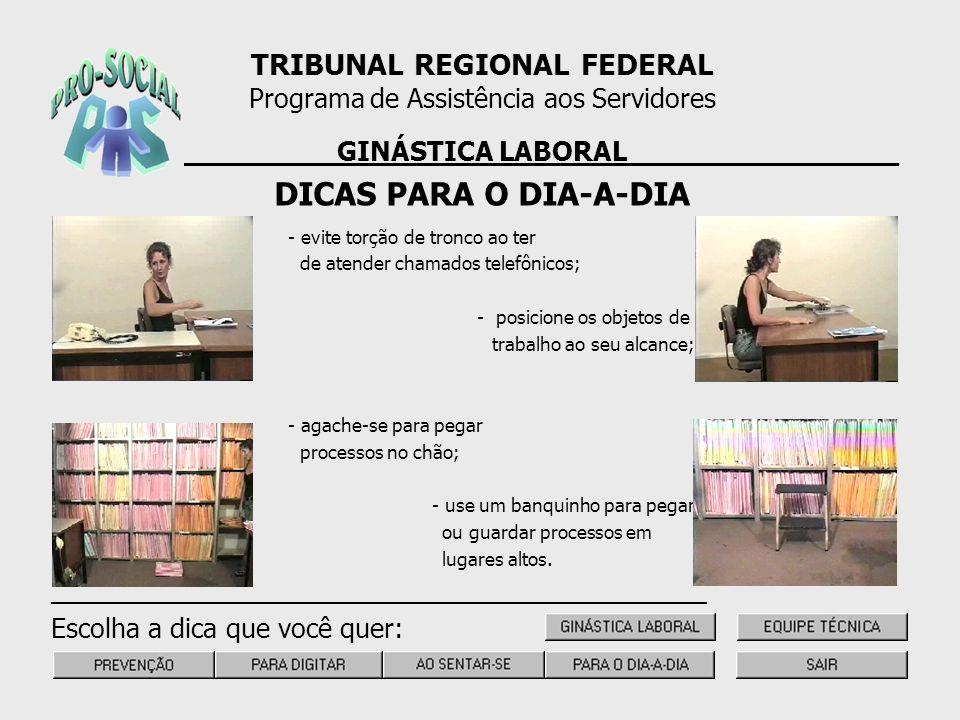 DICAS PARA O DIA-A-DIA TRIBUNAL REGIONAL FEDERAL