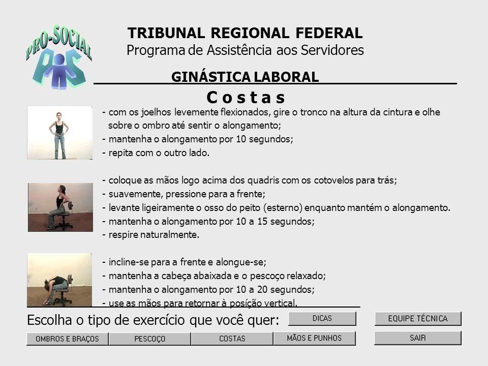 C o s t a s TRIBUNAL REGIONAL FEDERAL