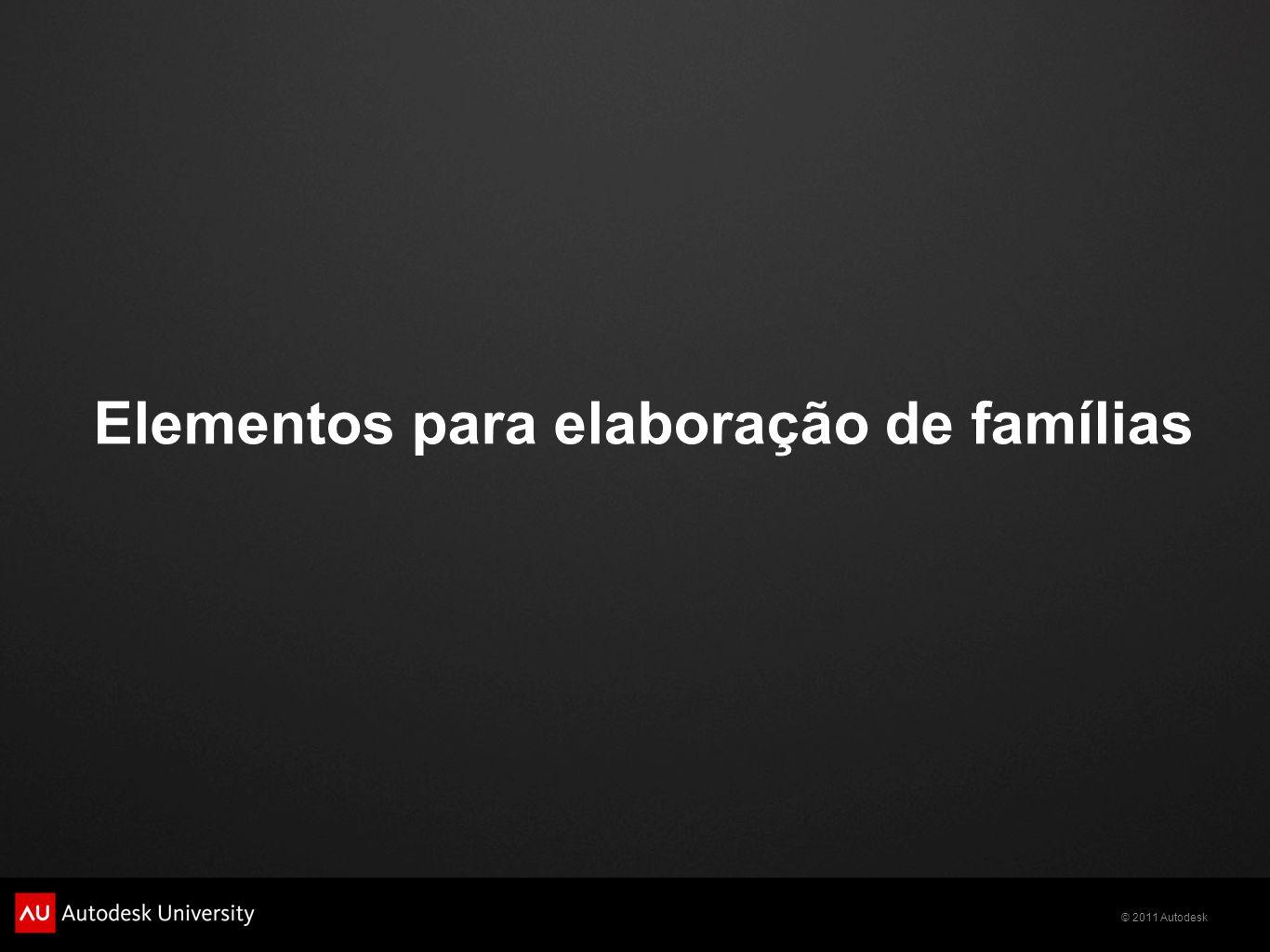 Elementos para elaboração de famílias
