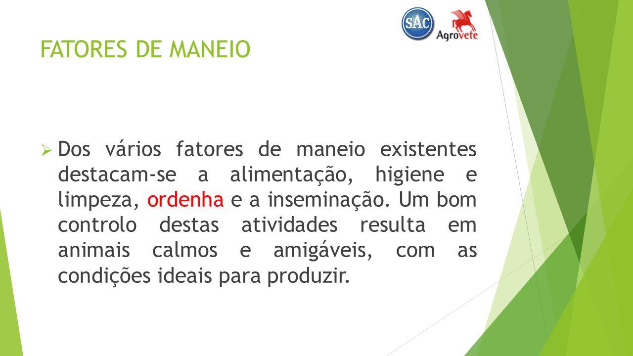 FATORES DE MANEIO