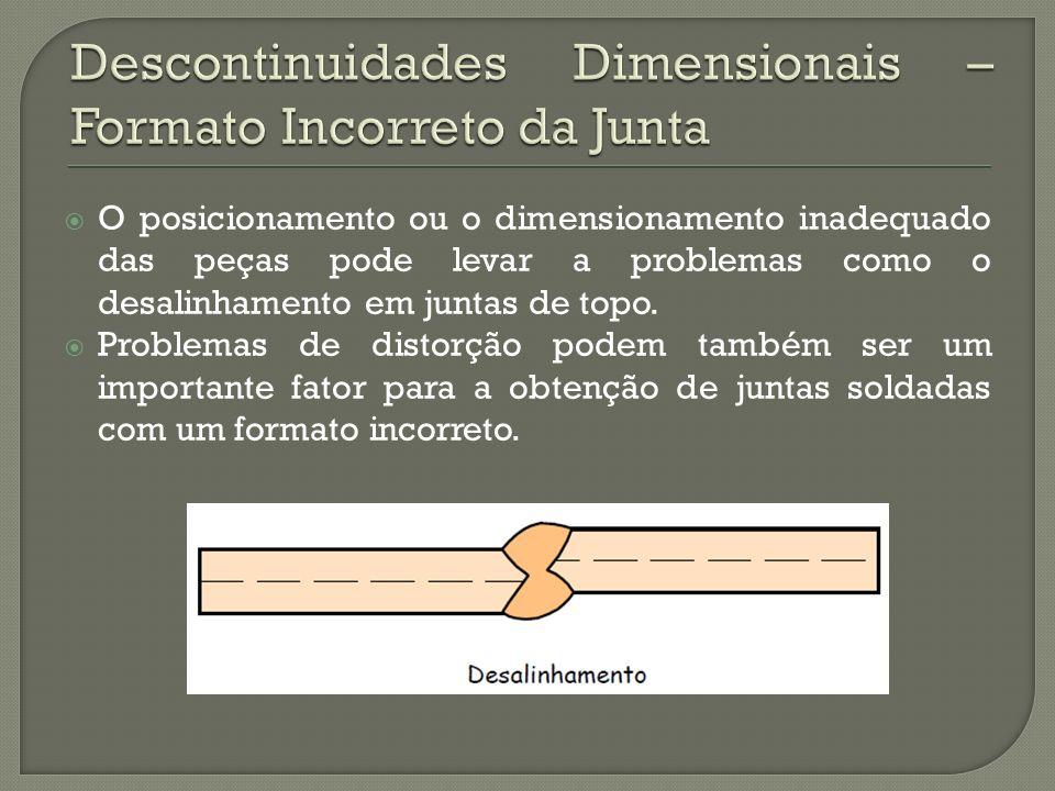 Descontinuidades Dimensionais – Formato Incorreto da Junta