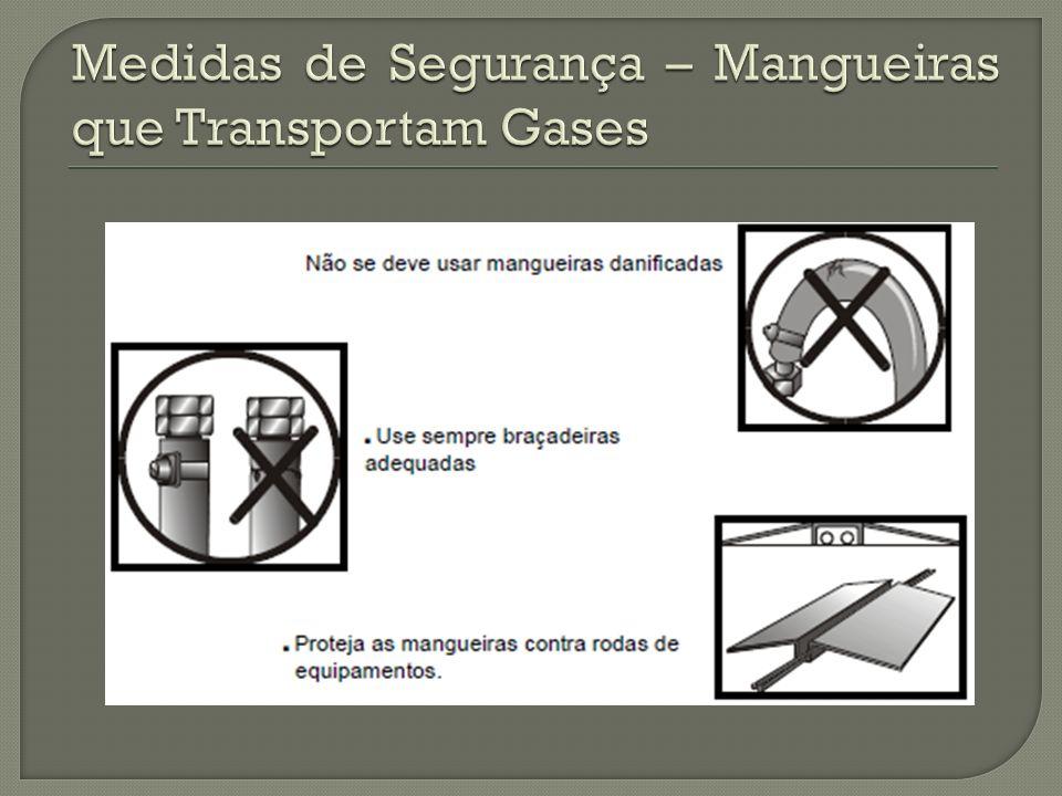 Medidas de Segurança – Mangueiras que Transportam Gases