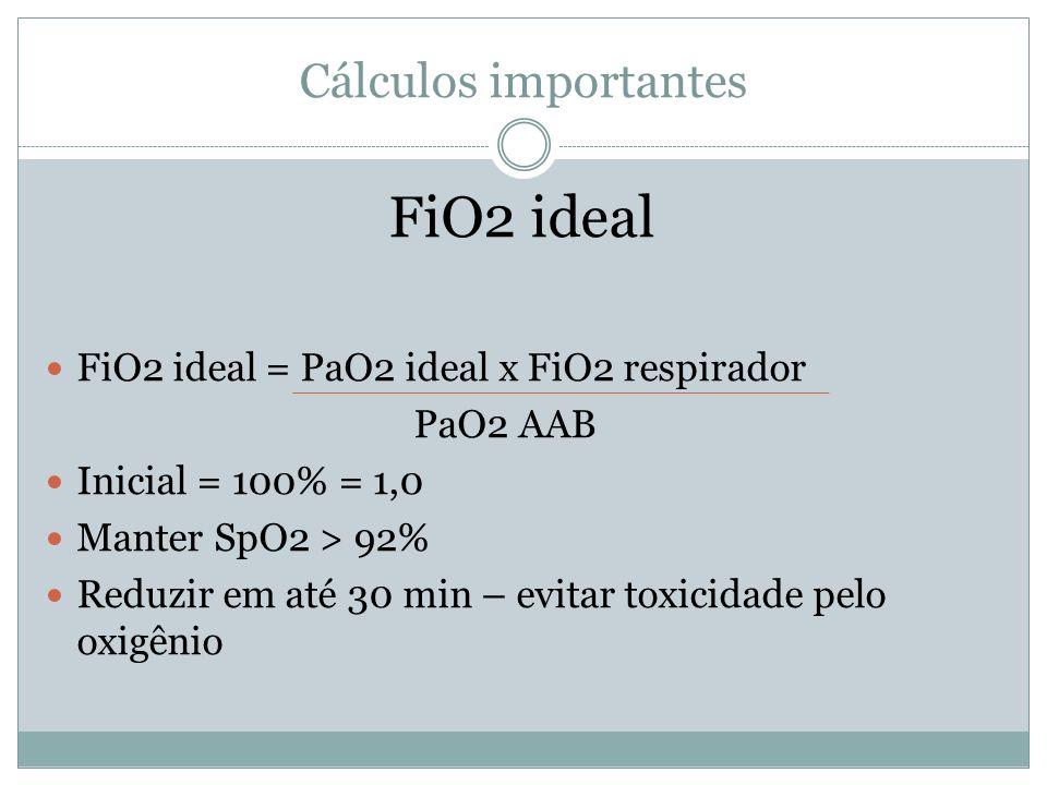 FiO2 ideal Cálculos importantes