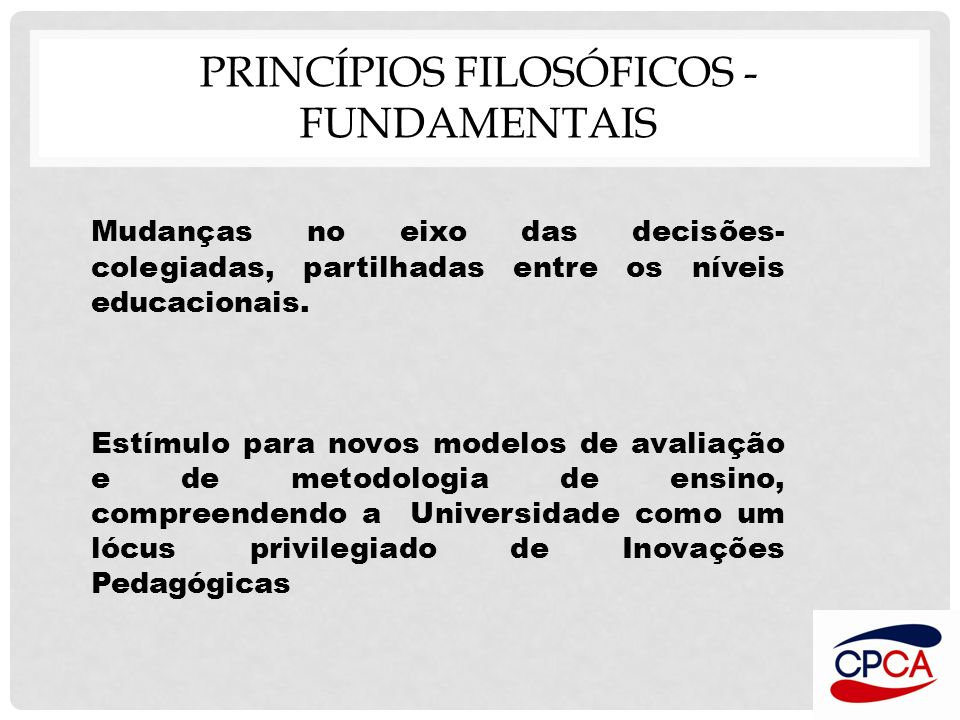 Princípios Filosóficos - FUNDAMENTAIS