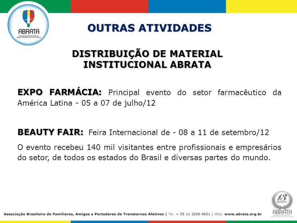 DISTRIBUIÇÃO DE MATERIAL INSTITUCIONAL ABRATA