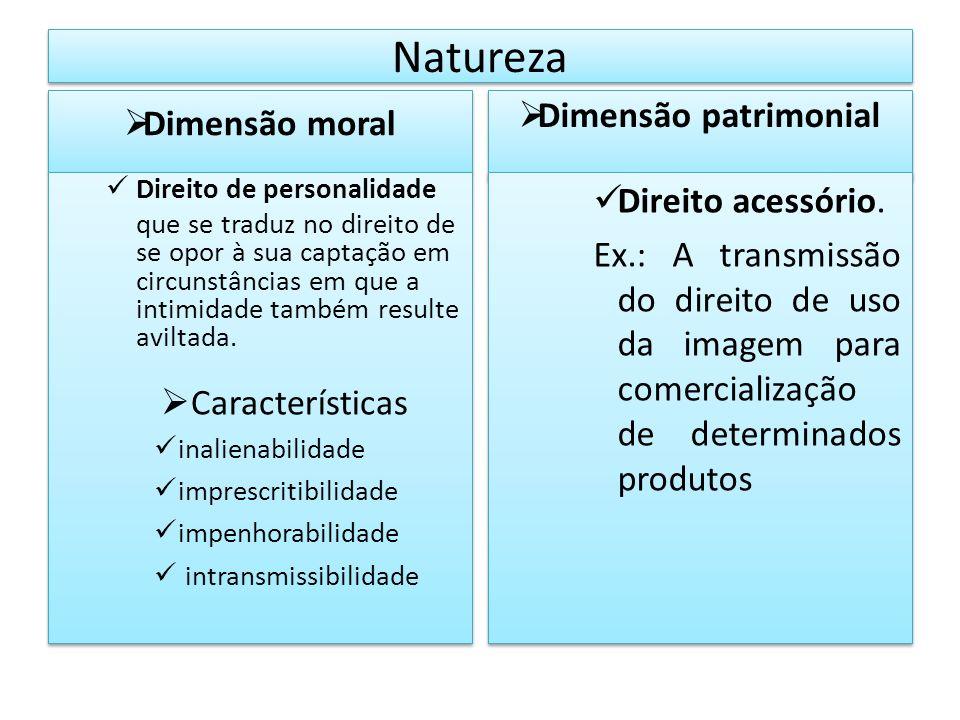 Natureza Dimensão patrimonial Dimensão moral Direito acessório.