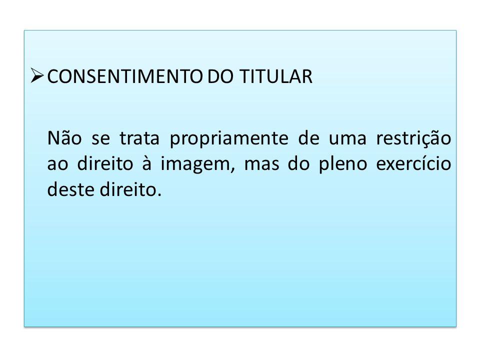 CONSENTIMENTO DO TITULAR