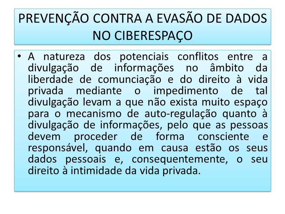 PREVENÇÃO CONTRA A EVASÃO DE DADOS NO CIBERESPAÇO