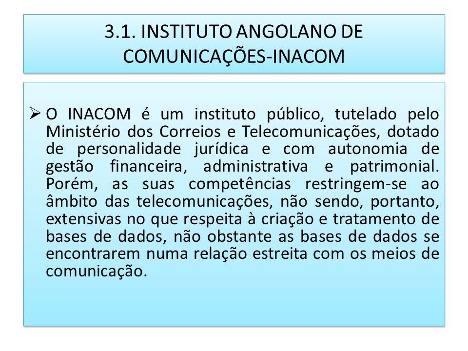 3.1. INSTITUTO ANGOLANO DE COMUNICAÇÕES-INACOM
