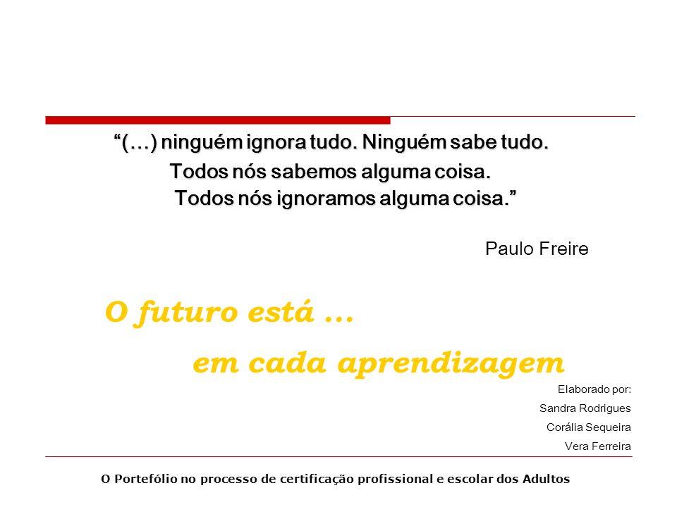O futuro está ... em cada aprendizagem