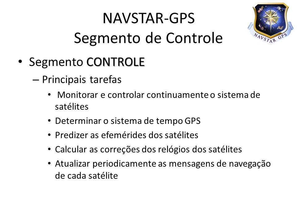 NAVSTAR-GPS Segmento de Controle