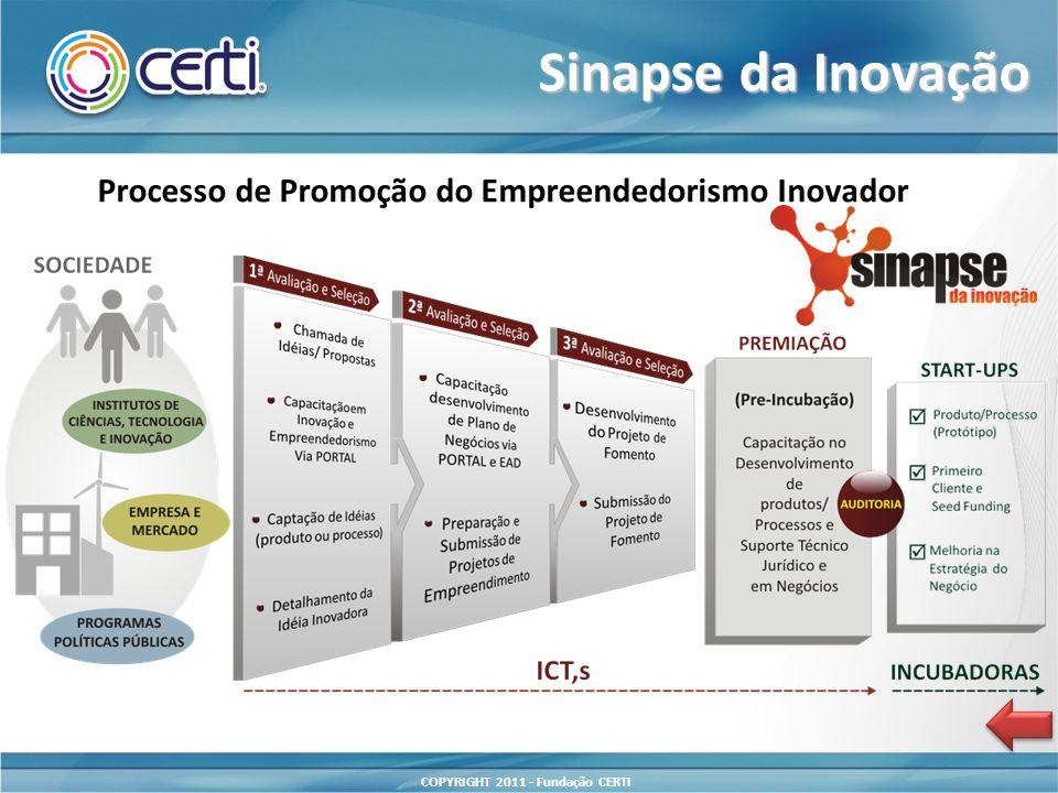 Sinapse da Inovação Processo de Promoção do Empreendedorismo Inovador