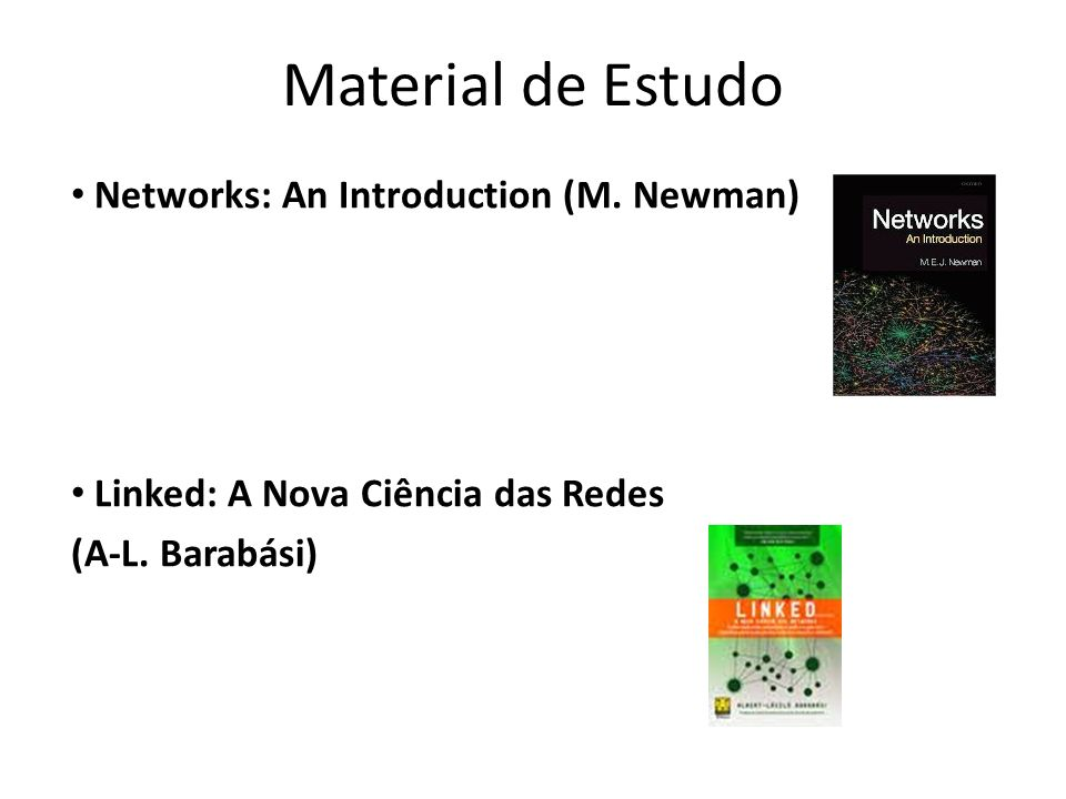 Material de Estudo Networks: An Introduction (M. Newman)