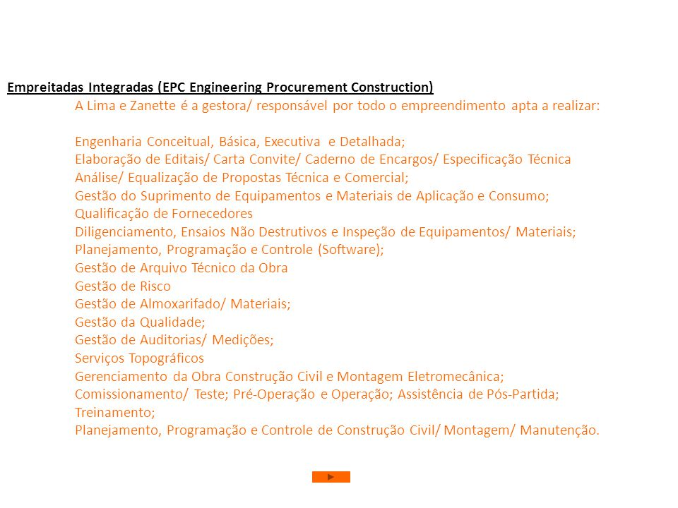 Empreitadas Integradas (EPC Engineering Procurement Construction)