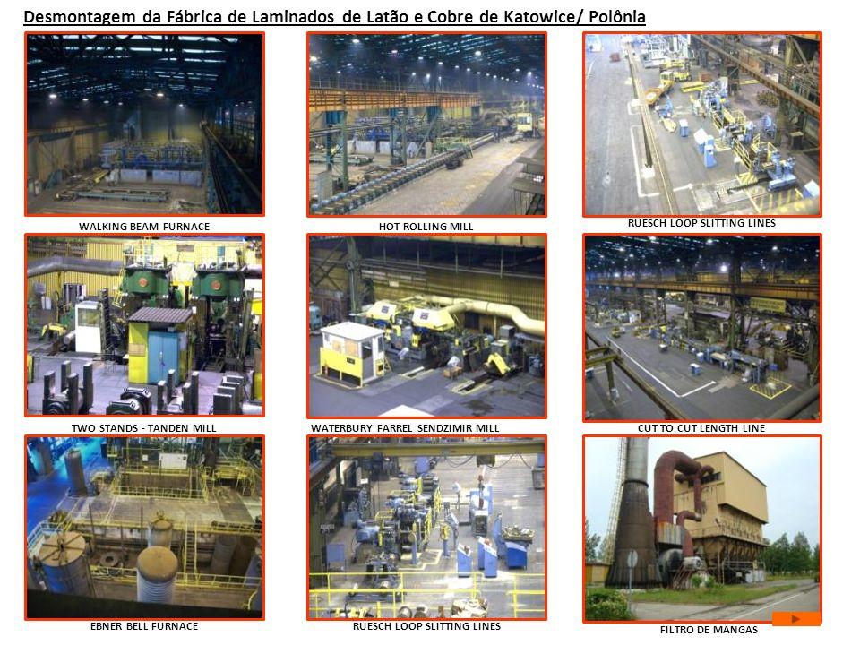Desmontagem da Fábrica de Laminados de Latão e Cobre de Katowice/ Polônia