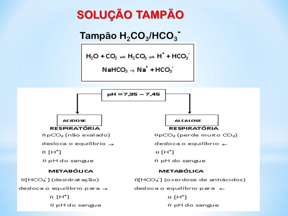 SOLUÇÃO TAMPÃO Tampão H2CO3/HCO3-