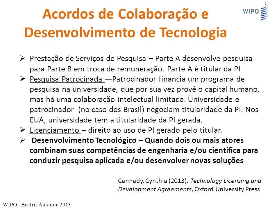 Acordos de Colaboração e Desenvolvimento de Tecnologia