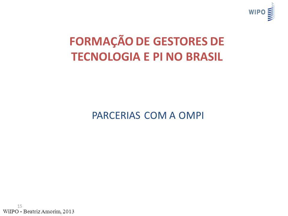 Formação de Gestores de Tecnologia e PI no brasil parcerias com a OMPI