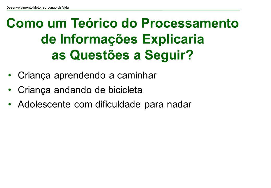 Como um Teórico do Processamento de Informações Explicaria as Questões a Seguir