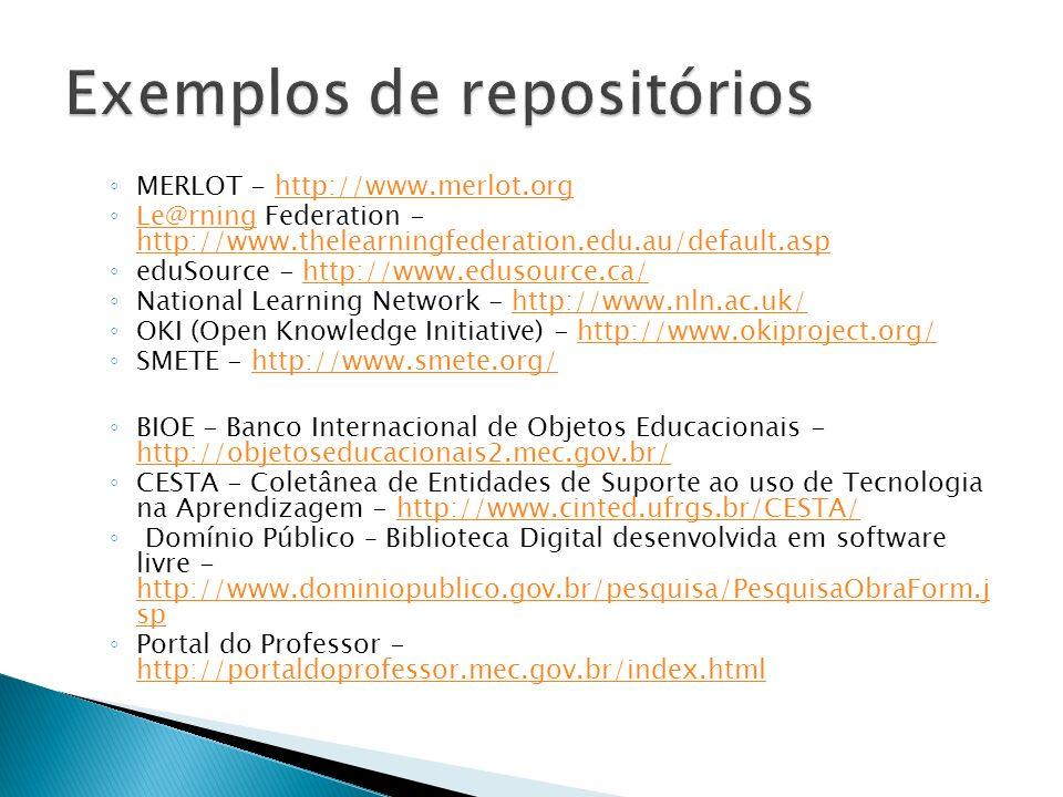 Exemplos de repositórios