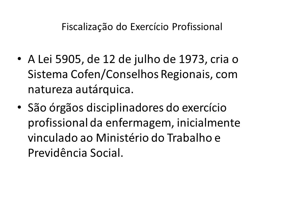 Fiscalização do Exercício Profissional