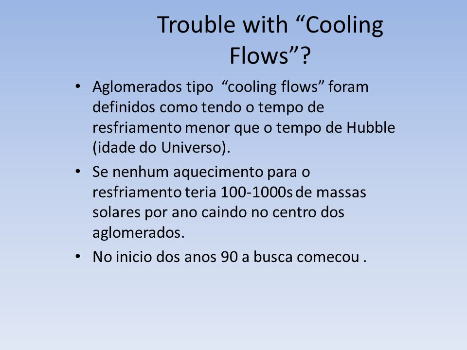 Trouble with Cooling Flows