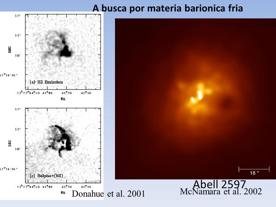 Abell 2597 A busca por materia barionica fria McNamara et al. 2002
