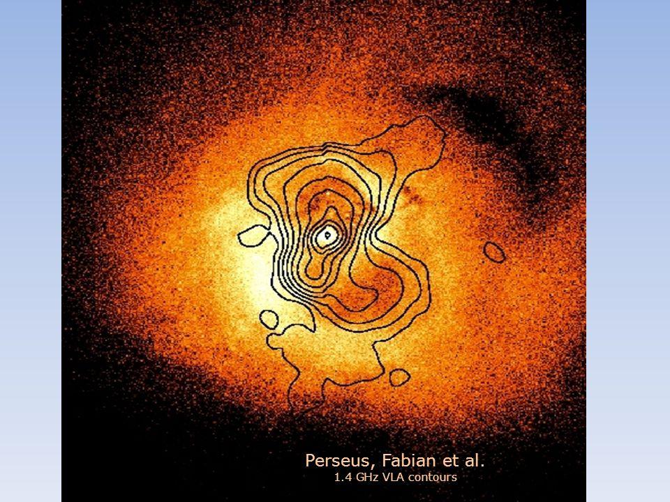 Perseus, Fabian et al. 1.4 GHz VLA contours