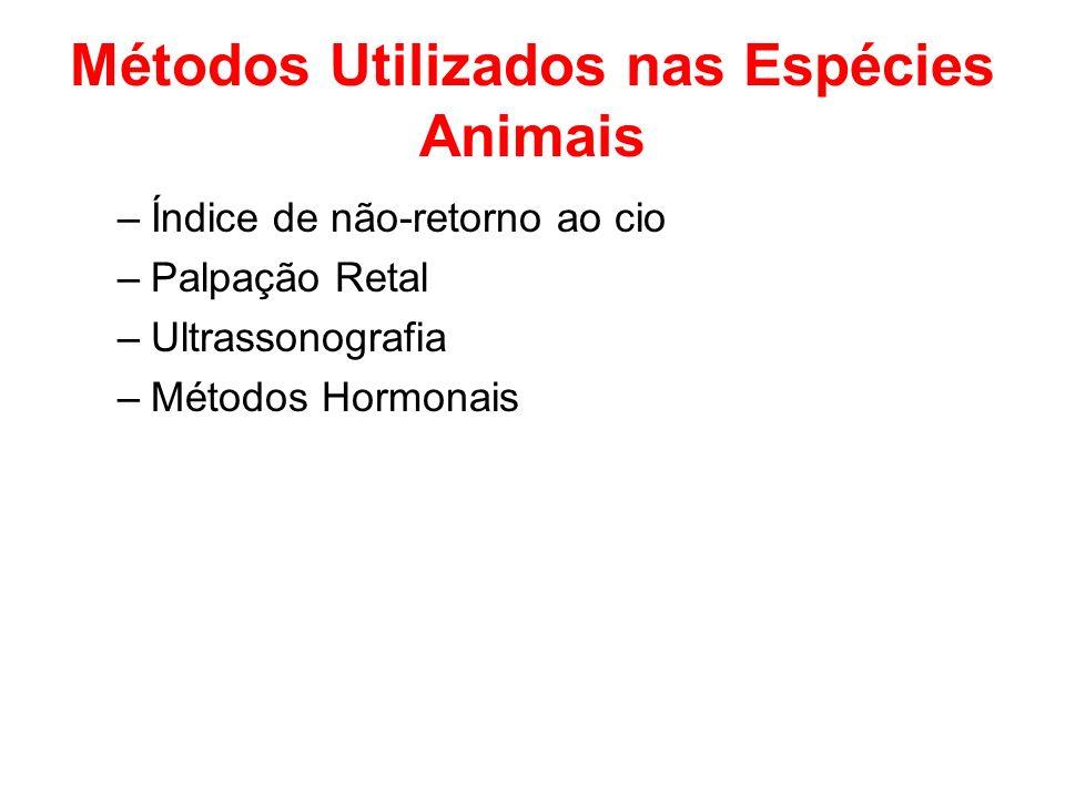Métodos Utilizados nas Espécies Animais