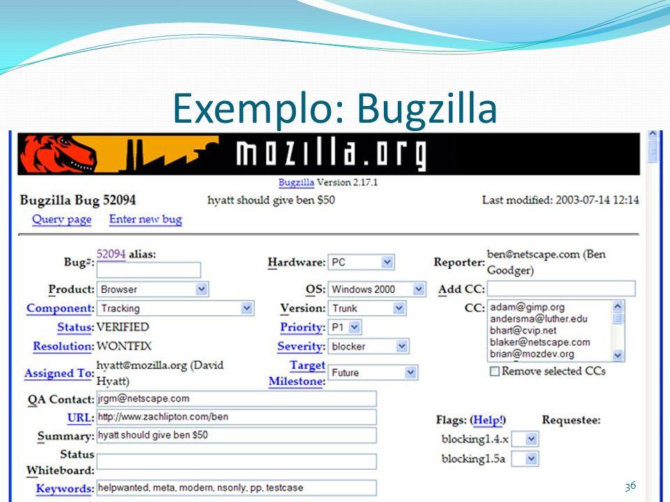 Exemplo: Bugzilla
