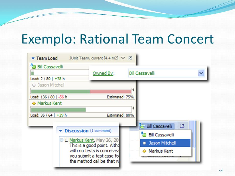 Exemplo: Rational Team Concert