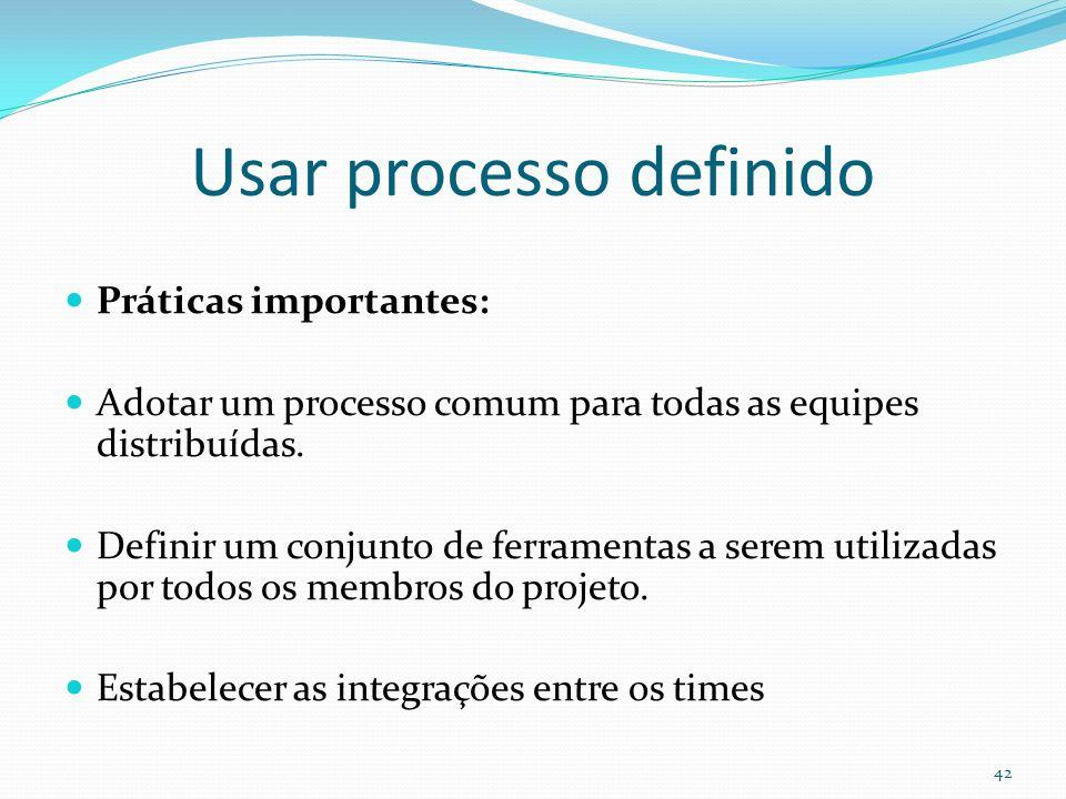 Usar processo definido