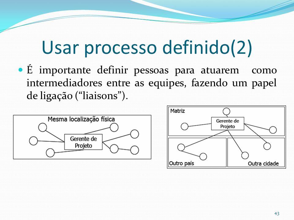 Usar processo definido(2)