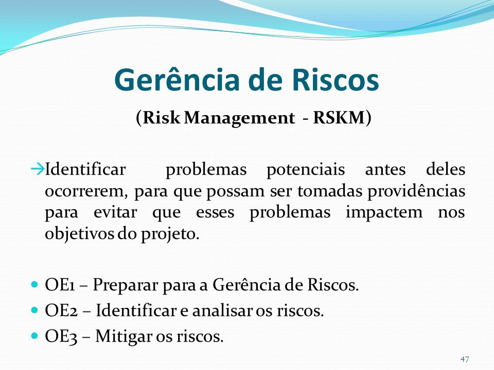 (Risk Management - RSKM)