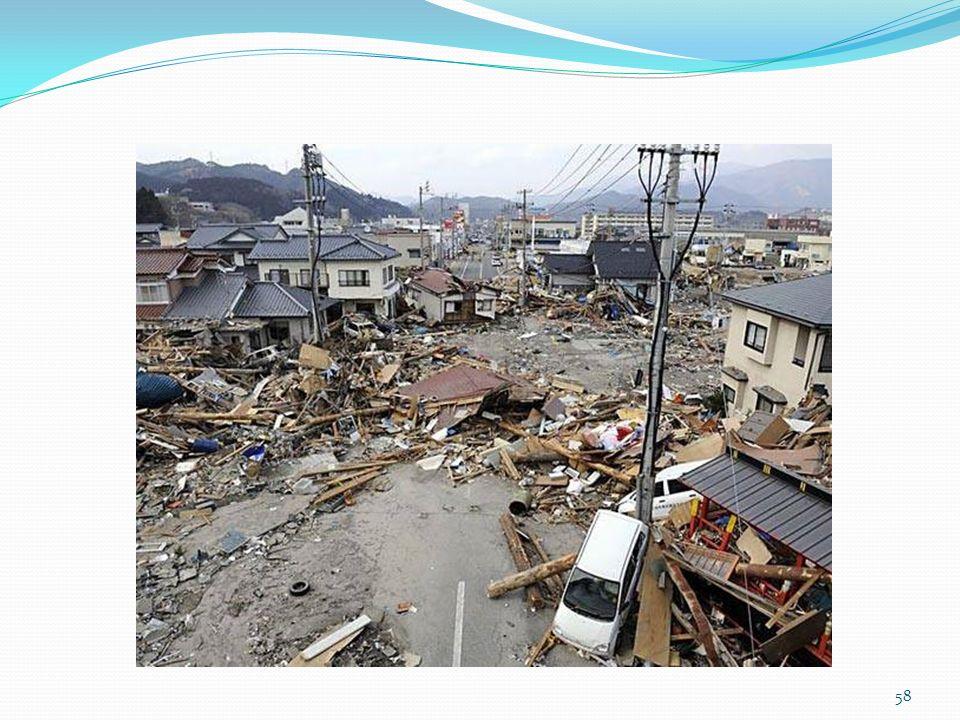 Falar de como muitos serviços foram interrompidos em decorrência do terremoto.
