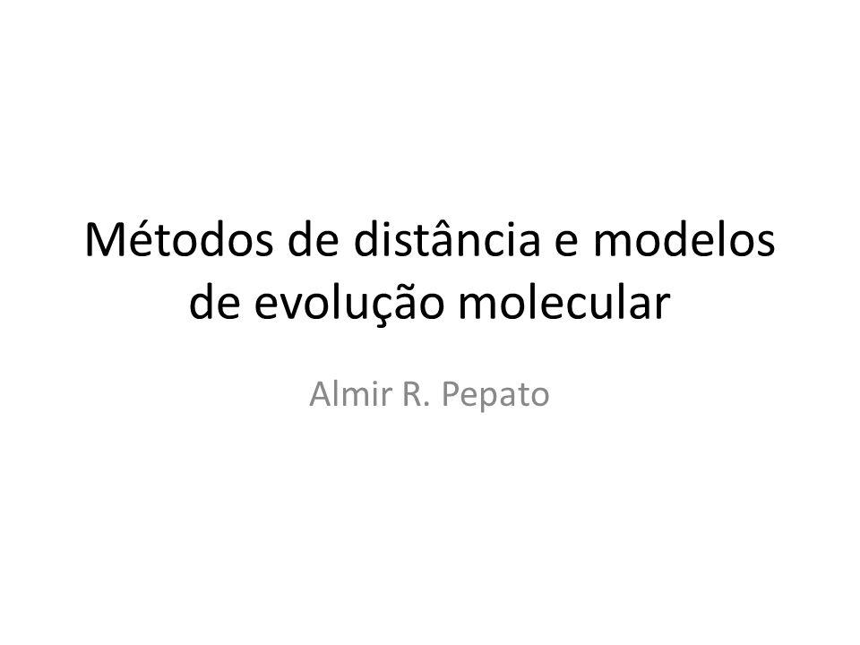 Métodos de distância e modelos de evolução molecular