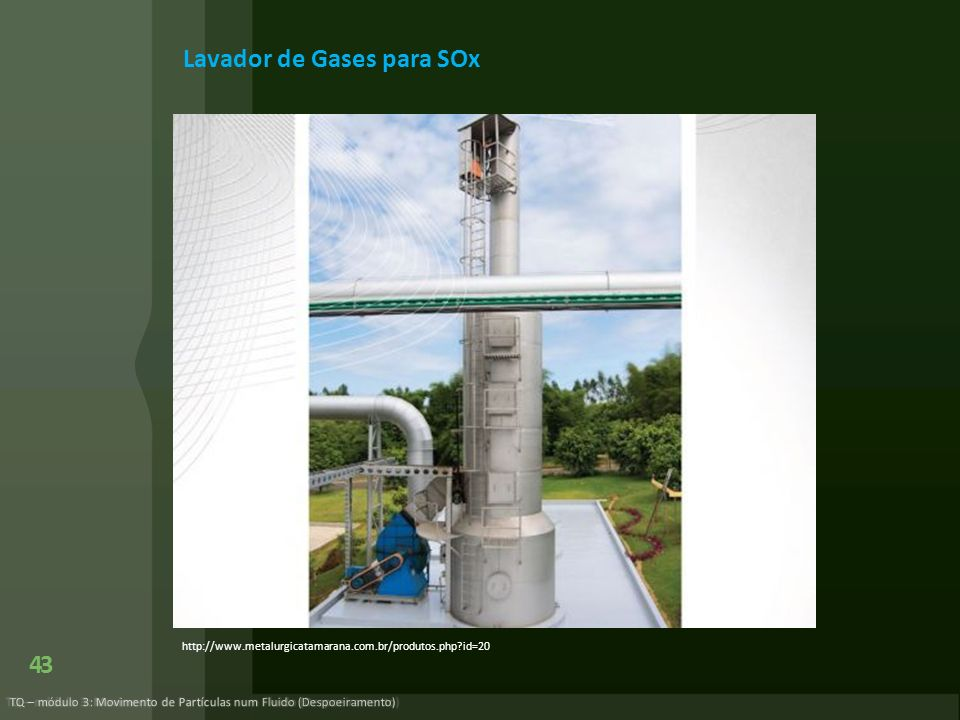 Lavador de Gases para SOx