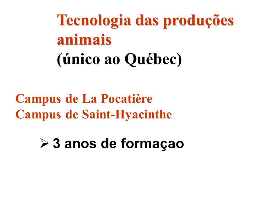 Tecnologia das produções animais (único ao Québec)